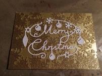 Kultainen Merry Christmas